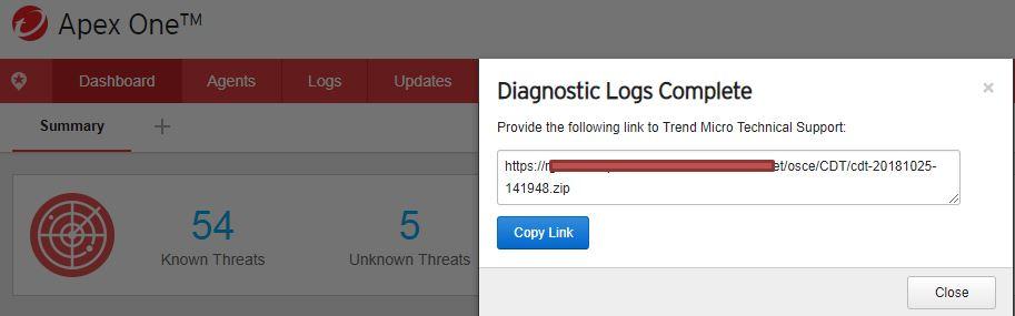 Diagnostic logs complete