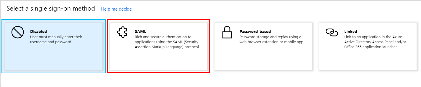 SAML-based Sign-on