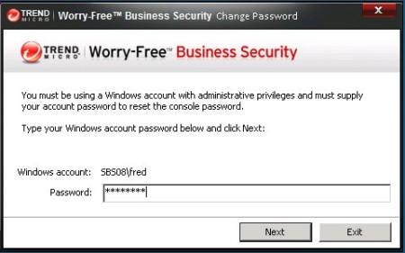WFBS Change Password