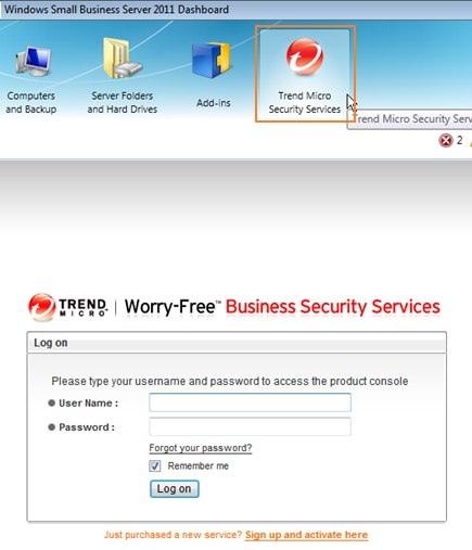 open worry-free business security services console