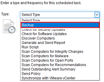 Select Backup