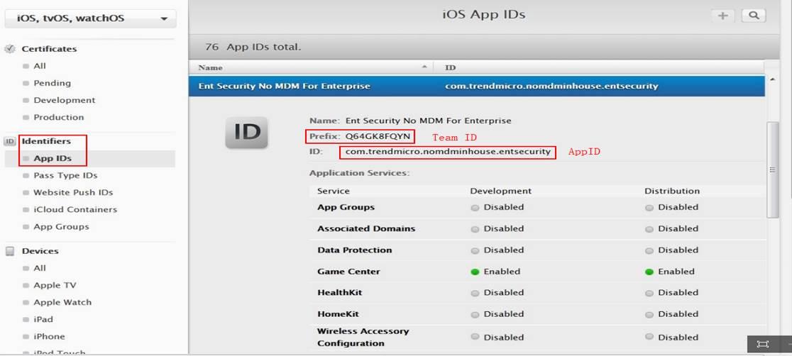 iOS App IDs