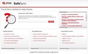 Trend Micro SafeSync Help Center