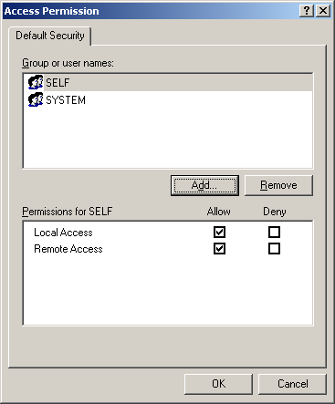 Local Access Permission