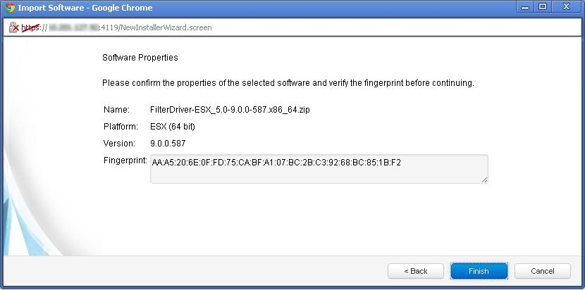 confirm filter driver properties