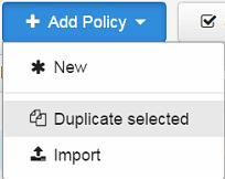 duplicate selected