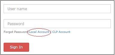 TM CAS login page