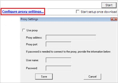 Configure proxy settings
