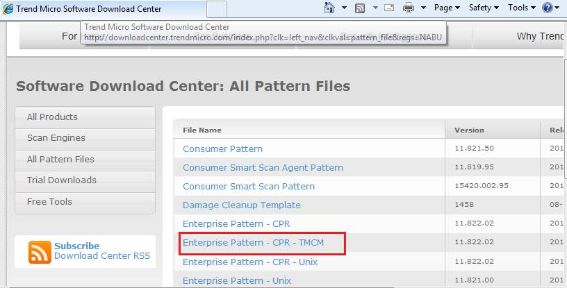 Trend Micro Software Download Center