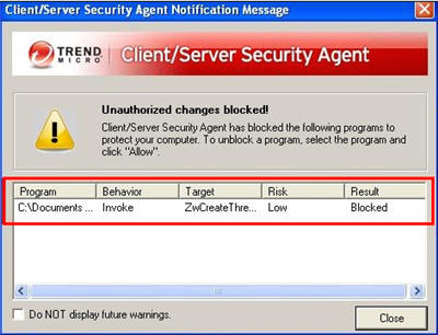 AEGIS technology prevents malware from executing
