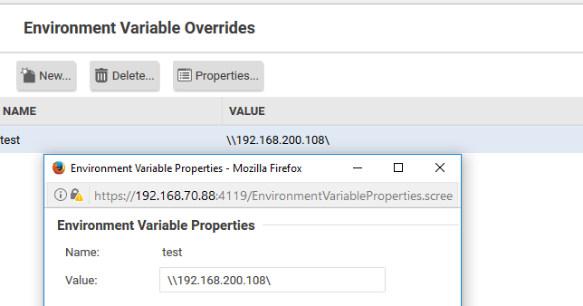 Environment Variable Overrides