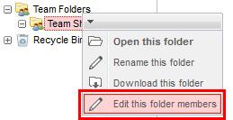 Edit this folder members