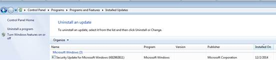 Security Updates for Microsoft Windows (KB2992611)