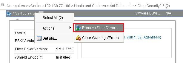 Remove Filter Driver