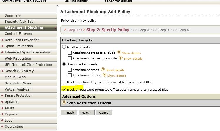Block files