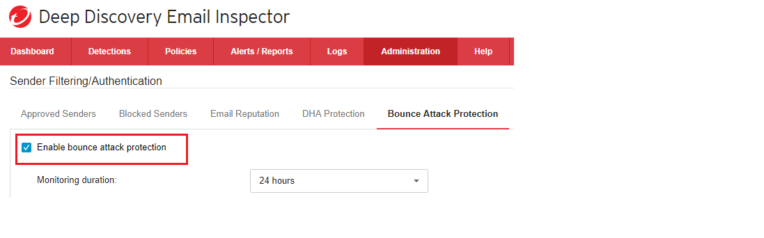 Bounce attack protection