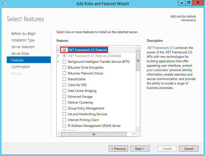.NET framework 3.5 Feature