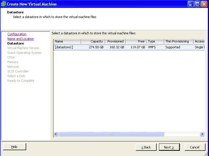 Virtual Machine Datastore