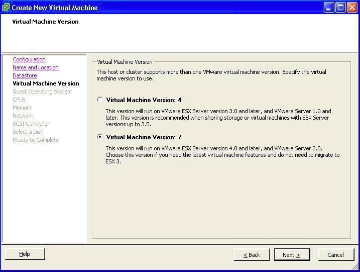 Virtual Machine Version