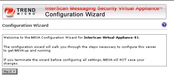 IMSVA Configuration Wizard