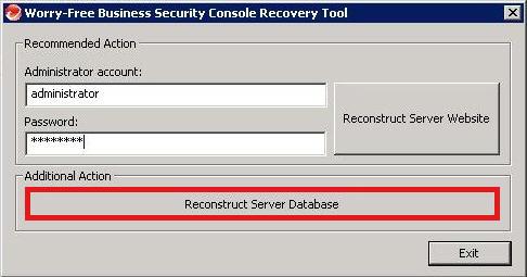 Reconstruct Server Database