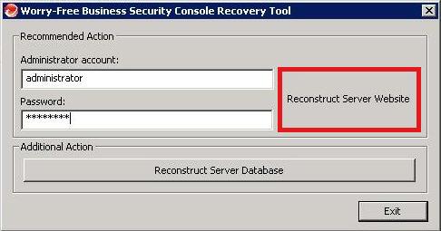 Reconstruct Server Website