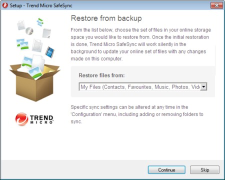 Restore from a Backup Setup