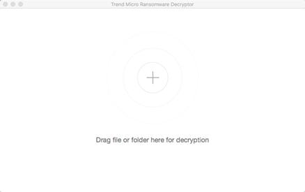 Drag file or folder for decryption