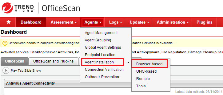 OfficeScan 11.0 web installation