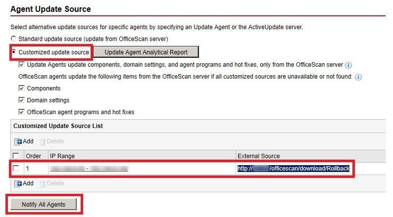 Update Source for Default Website