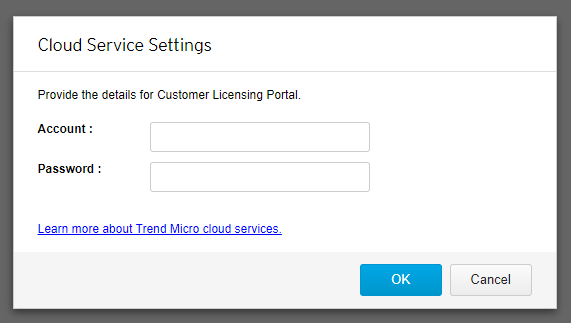 Cloud Server Settings