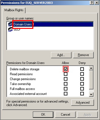Tick permissions for Domain Users