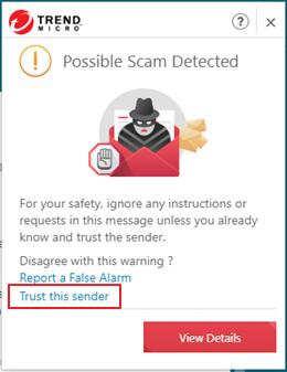Trust this sender