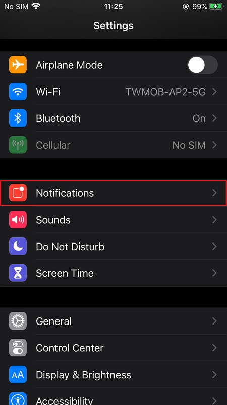 Enable Notification Settings on iOS