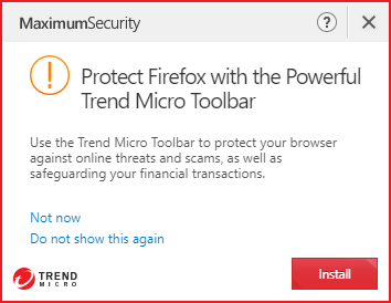 Protect Mozilla Firefox with the Powerful Trend Micro Toolbar