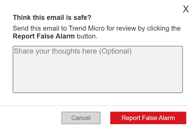 Report False Alarm