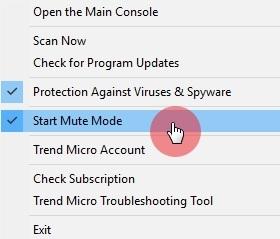 Start Mute Mode