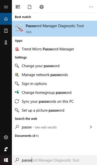 Password Manager Diagnostic Toolkit Tool Result