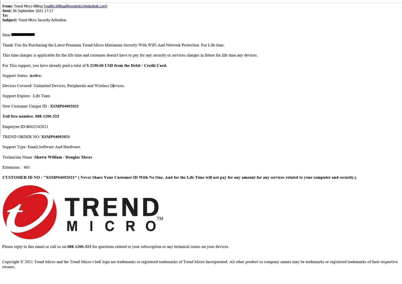 Fake Email - September 2021