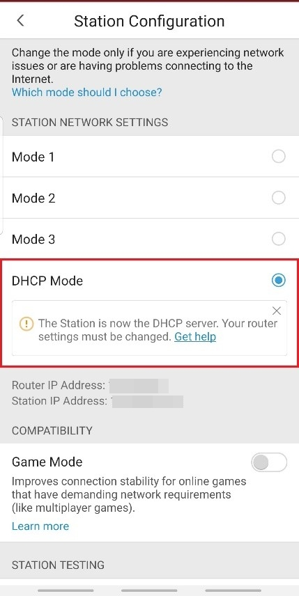 Setting up DHCP Mode of Home Network Security