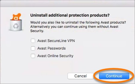 Uninstall additional security products