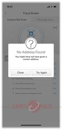 Link Scanner No Address Found