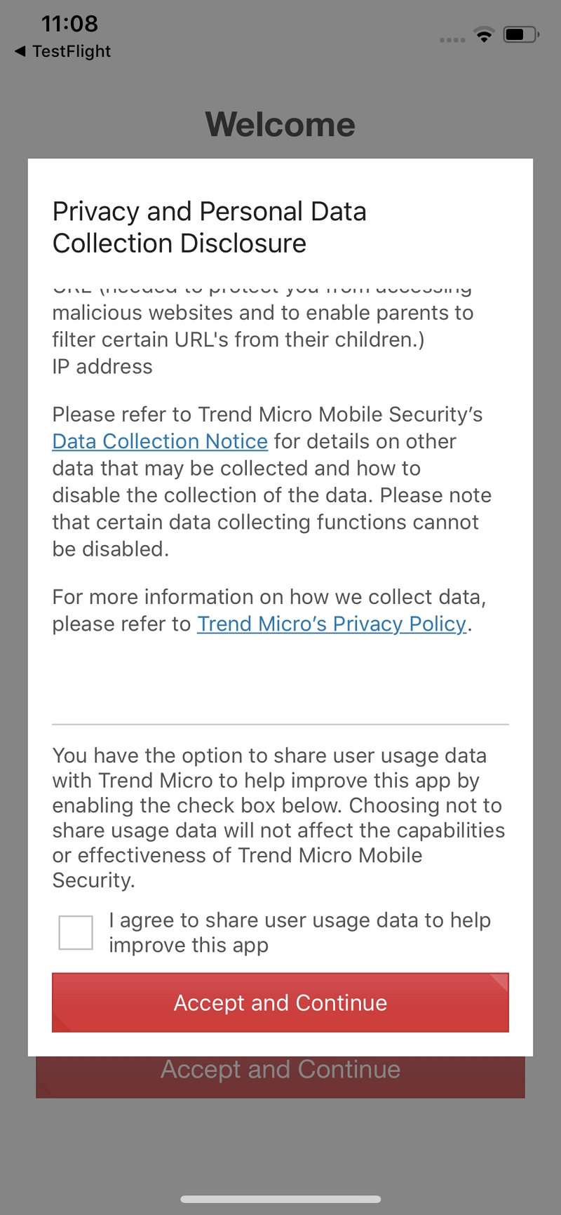 I agree to share user usage data to help improve this app