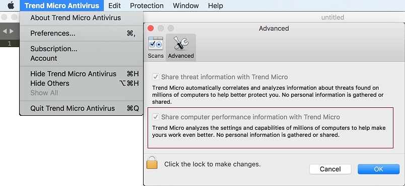 Share computer performance information with Trend Micro