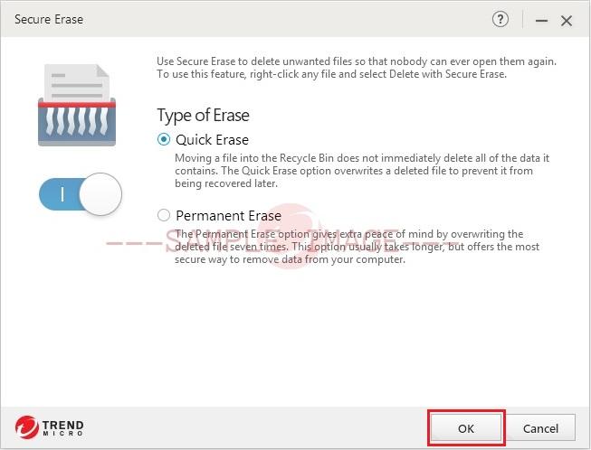 Save Secure Erase Changes