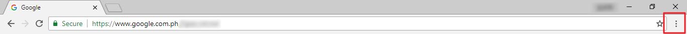 Customize and control Google Chrome button