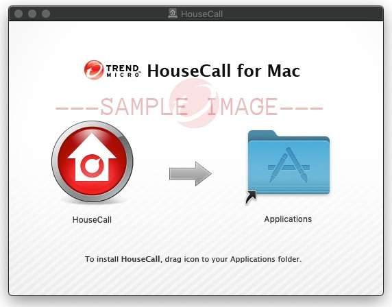 Drag the Housecall icon to your Applications folder