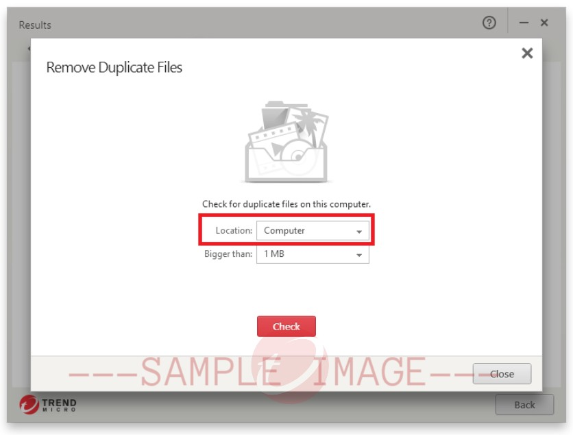 location check for duplicate files on this computer
