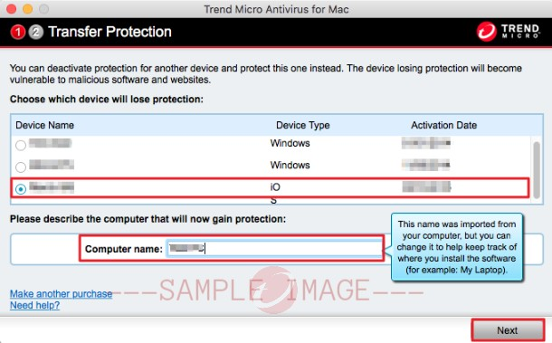Transfer protection on Mac