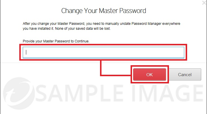 Master Password Required